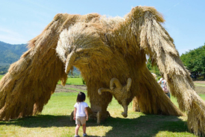 Mythical Straw Creatures Capture the Imagination at Japanese Festival